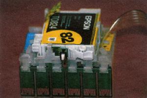 Оригинальный картридж, установленный в комбочип