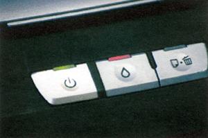 Кнопка принтера горит красным цветом